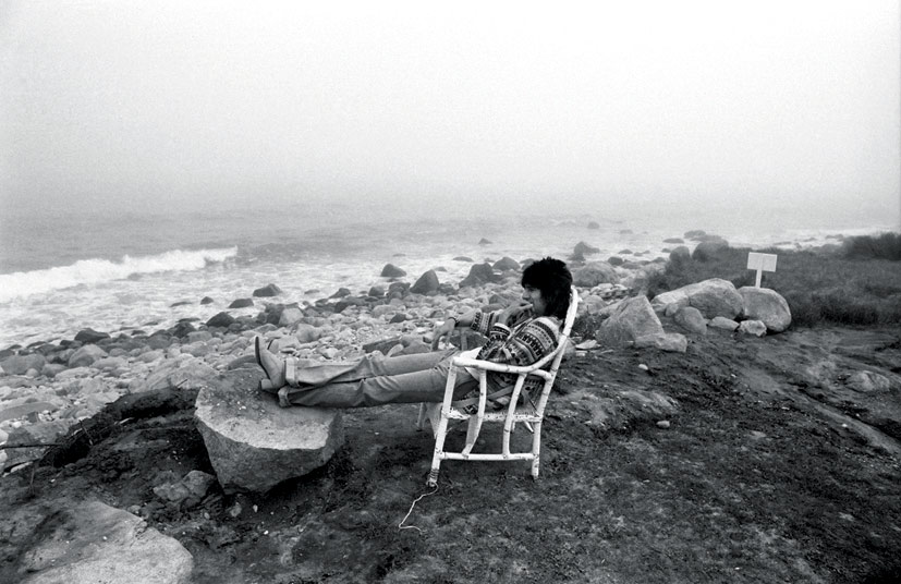 Ronnie Wood Relaxing in Montauk, NY, 1975