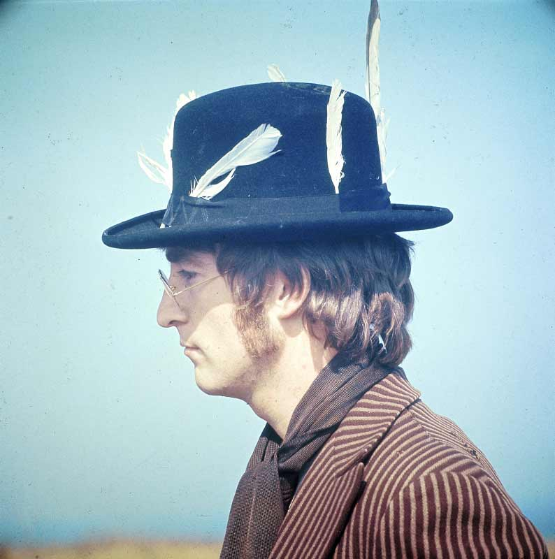 John Lennon in Feathered Hat, Magical Mystery Tour, 1967