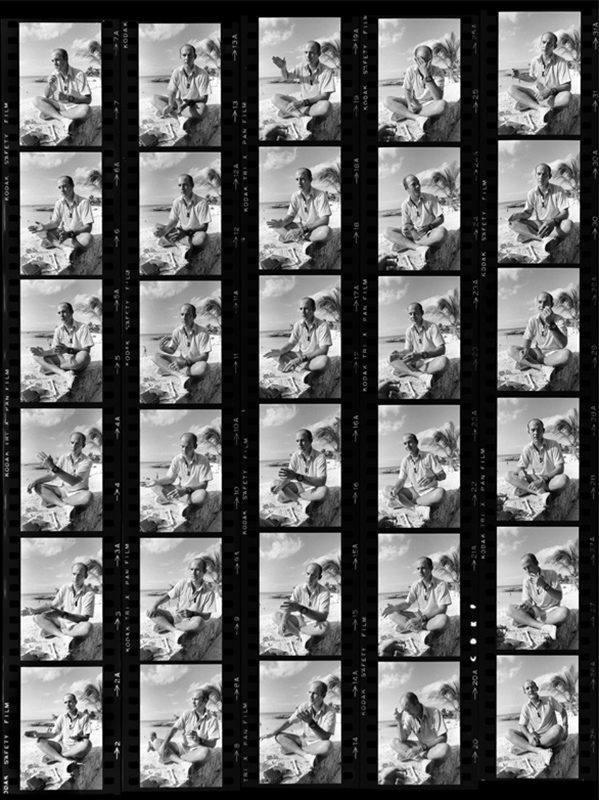 Hunter S. Thompson, Contact Sheet, Cozumel, Mexico, 1974