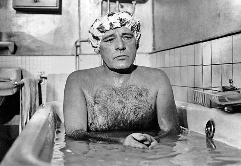Richard Burton in the Bath, On the Set of Staircase, Paris, 1969