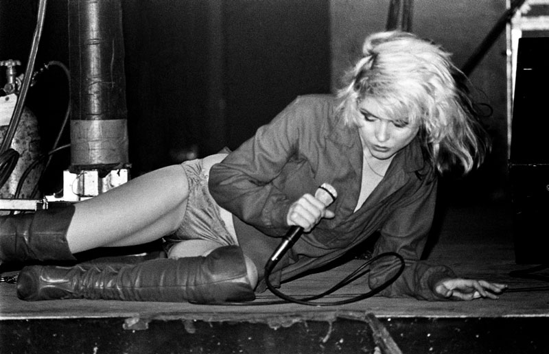 Debbie Harry Laying Onstage, NYC, 1978