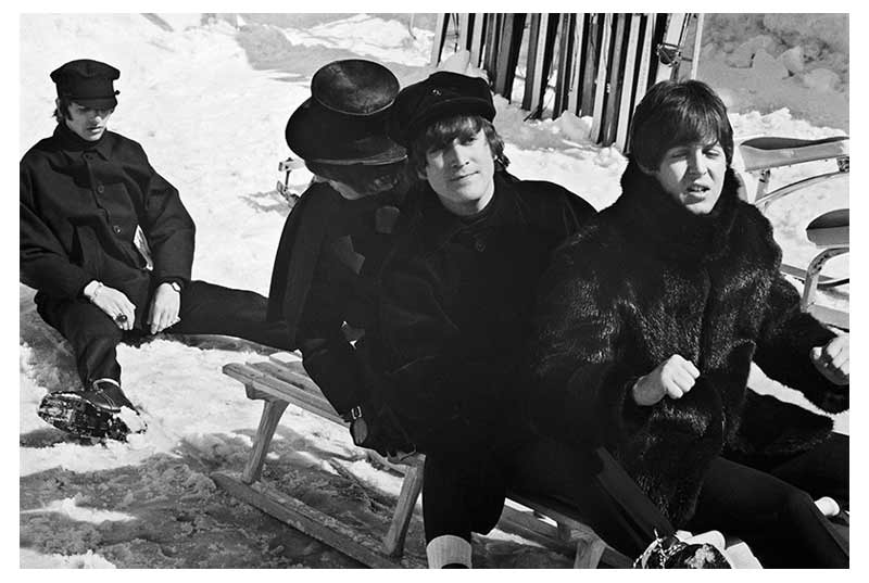 The Beatles Toboggan Scene, Austria, 1965 (Ref.#23)