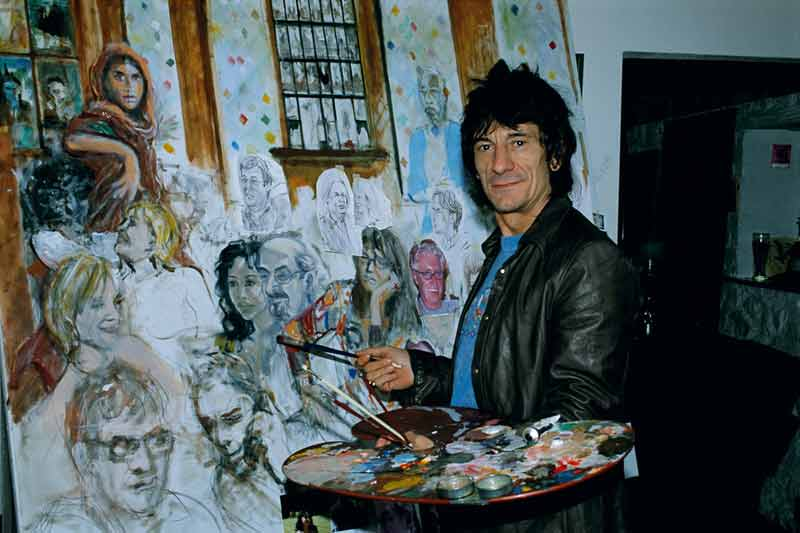 Ronnie Wood at the Ivy Painting, 2003