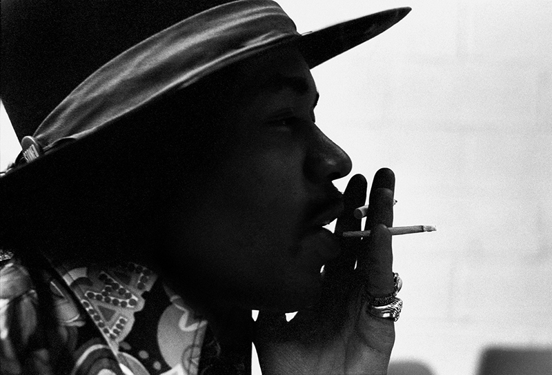 Jimi Hendrix Stereo Smoking, The Record Plant, NYC, 1968