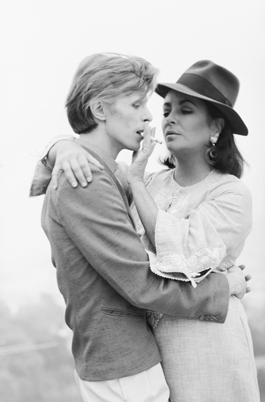 David Bowie and Elizabeth Taylor, Los Angeles, 1976