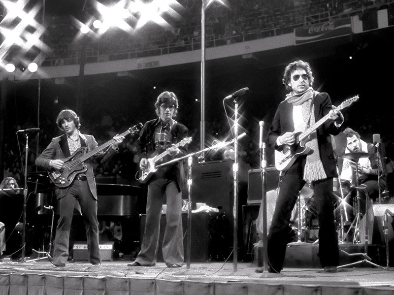Bob Dylan and The Band Onstage, Boston Garden, 1974