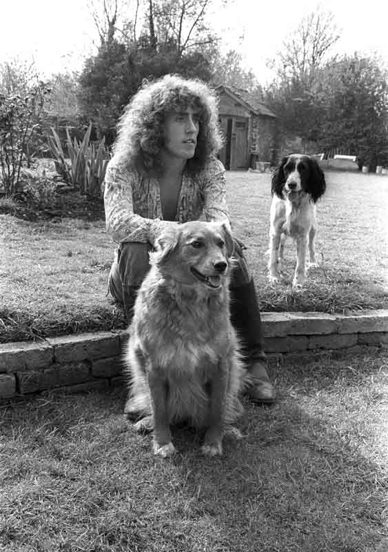 Roger Daltrey with His Dogs, at his Country Cottage, Surrey, England, 1968