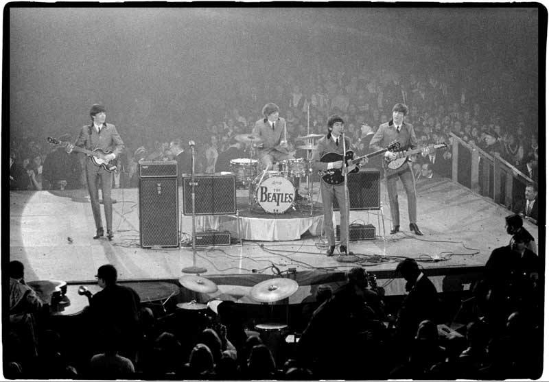 The Beatles Onstage at the Coliseum (wide view from Front), Washington DC, 1964