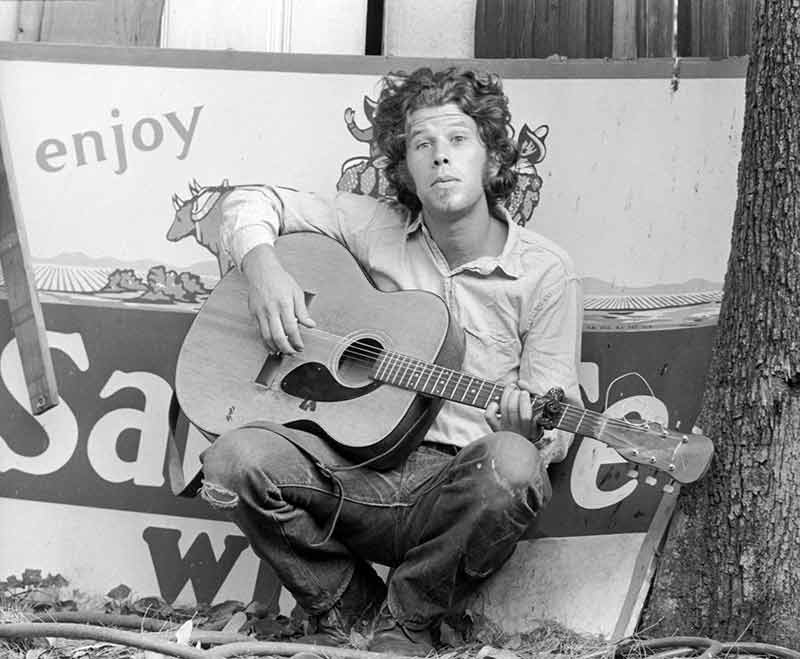 Tom Waits with Guitar, Los Angeles, 1972.