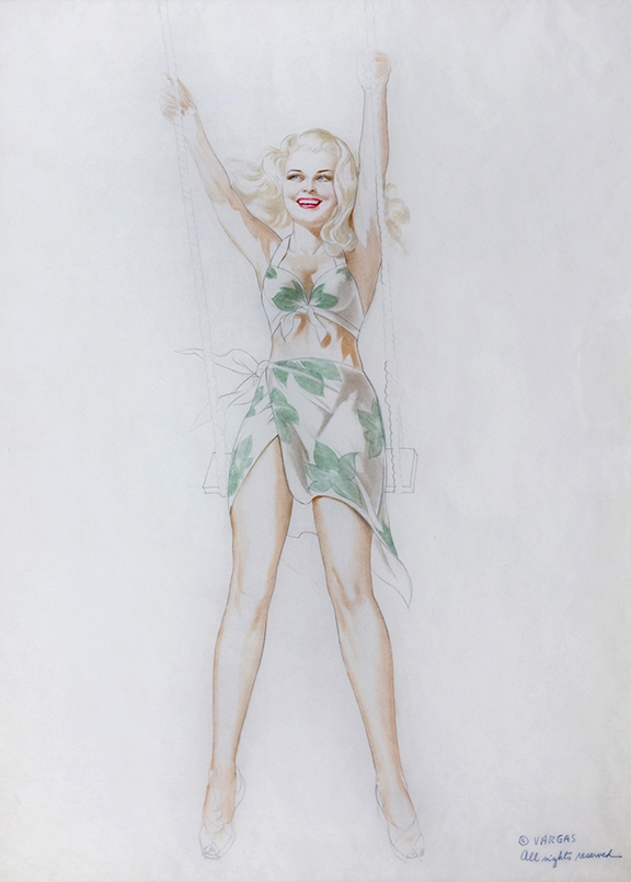 Study of a Young Blonde on a Swing, c. 1940s