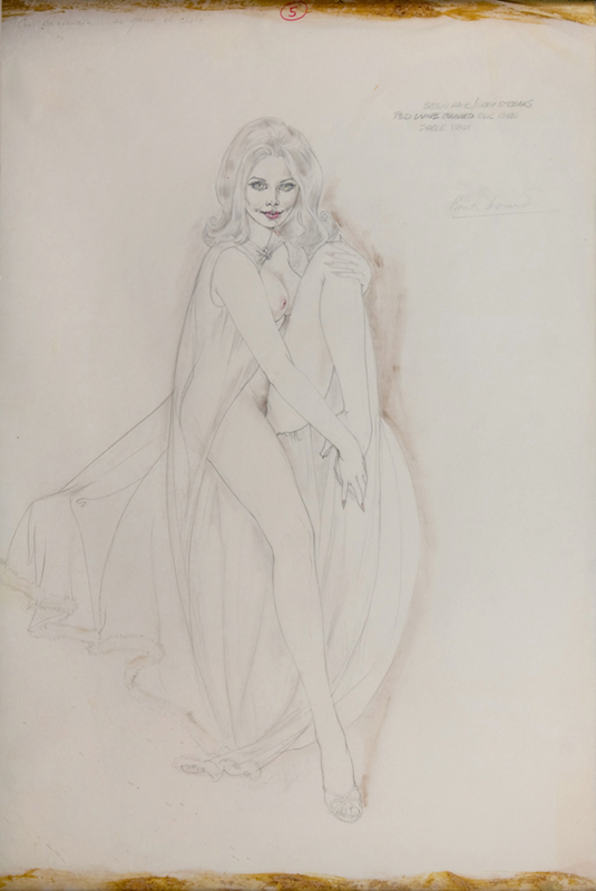 Study of a Seated Young Blonde in a Long Peignoir, 1975