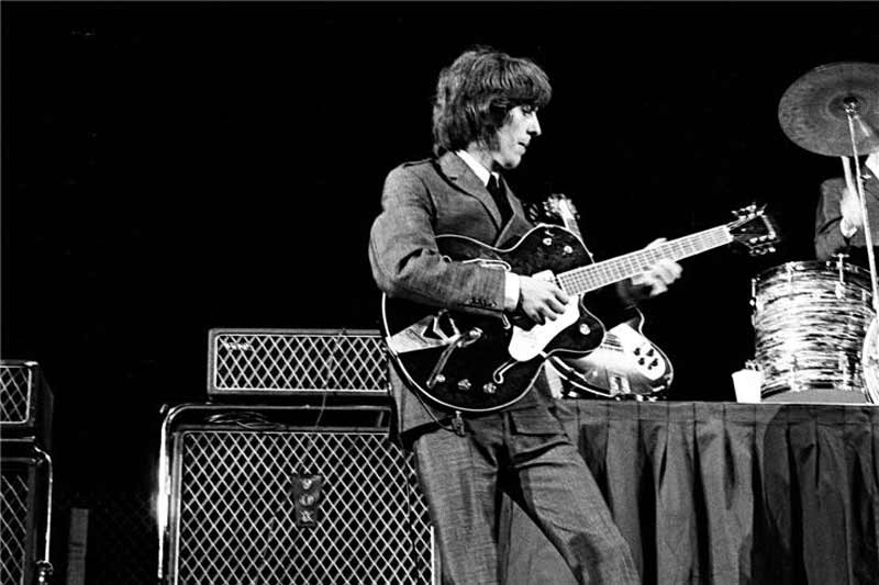 George Harrison Onstage, Cow Palace San Francisco, 1965