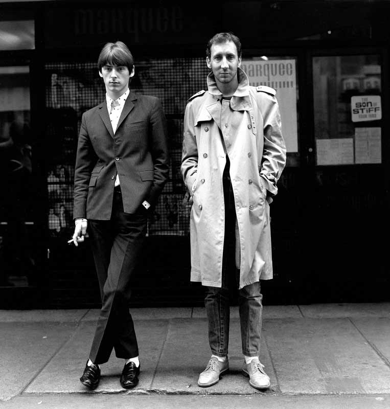 Paul Weller and Pete Townshend, London, 1980