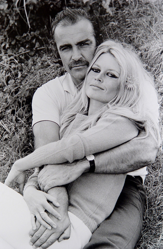 Sean Connery and Brigitte Bardot, France, 1968