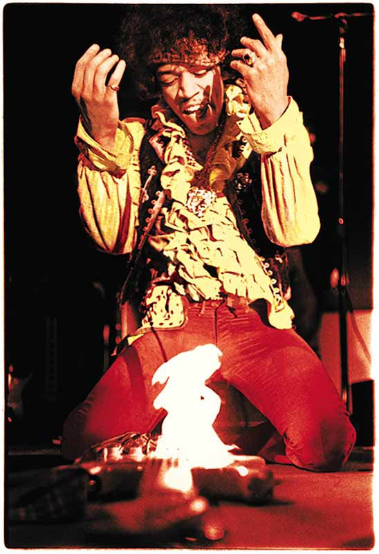 Jimi Hendrix Burning his Guitar, Monterey Pop Festival, 1967