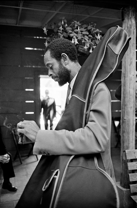 Percy Heath, Monterey Jazz Festival, Monterey, CA, 1963
