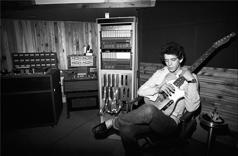 Lou Reed in Recording Studio, NYC, 1977