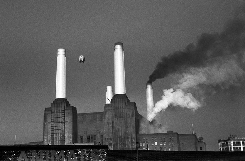 Pink Floyd, Animals Cover Shoot, Battersea Power Station, London, 1976