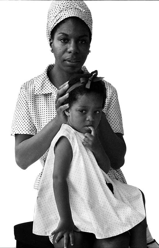 Nina Simone and her Daughter, London, 1965