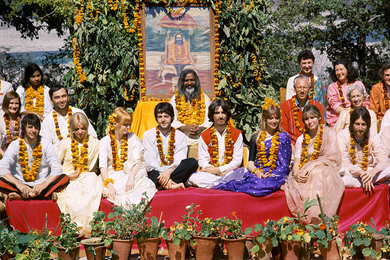 The Beatles in Rishikesh, India, 1968