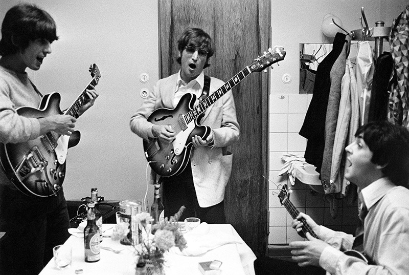 George Harrison, John Lennon & Paul McCartney, Hamburg, 1966