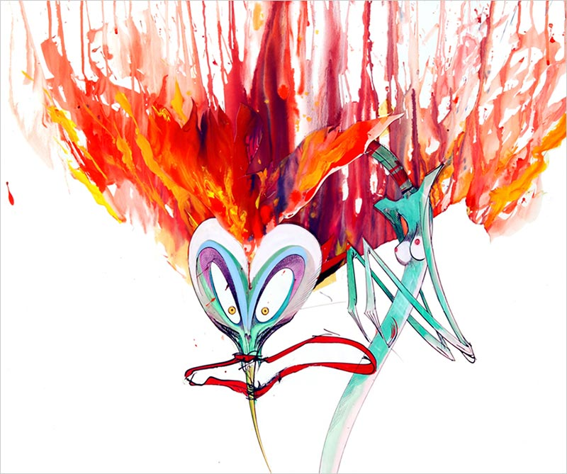 Gerald Scarfe-Wife With Flaming Hair