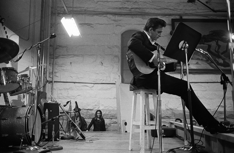 Johnny Cash Onstage with June Looking On, Folsom Prison, 1968