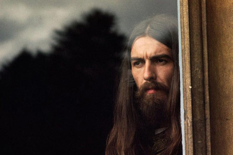 George Harrison Portrait in Window, Friar Park, 1970