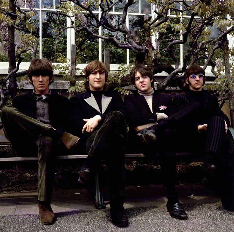 The Beatles, Chiswick Park Bench, London, 1966