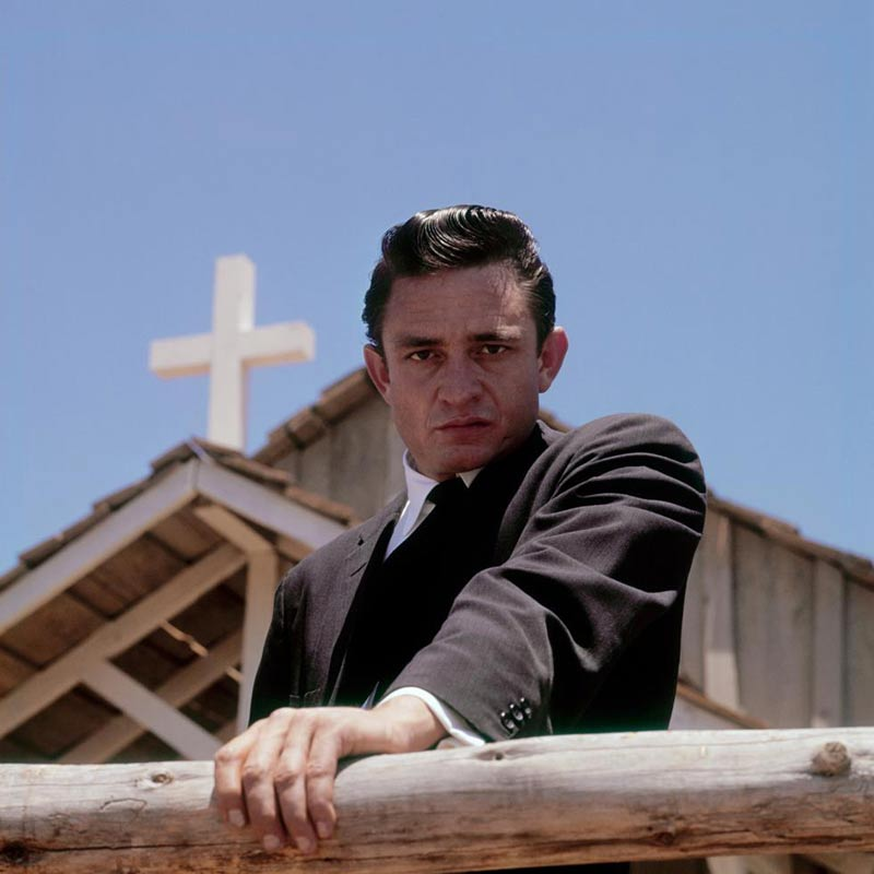 Johnny Cash Close Up, Melody Ranch Church, Newhall, CA, 1961