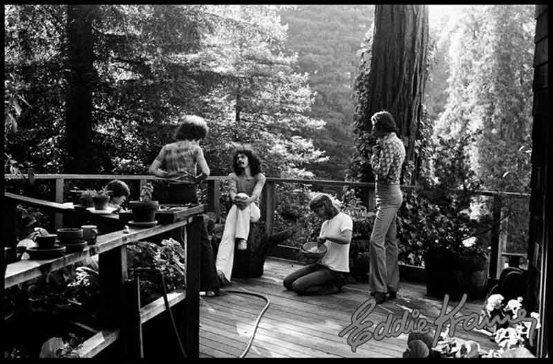 Santana Relaxing in Mill Valley, CA, 1971
