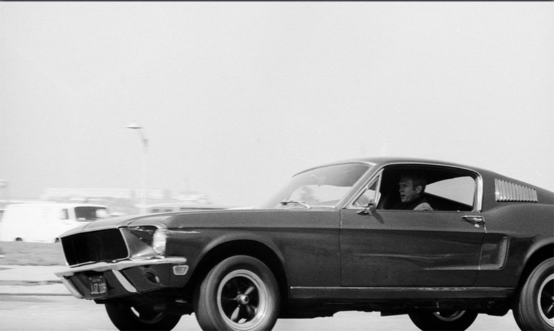 Steve McQueen Driving Mustang, on the Set of Bullitt, San Francisco, 1968