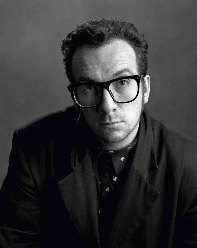 Elvis Costello, SPY Magazine, San Francisco, 1989