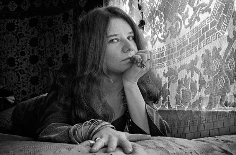 Janis Joplin on her Bed, Lyon St, San Francisco, 1968