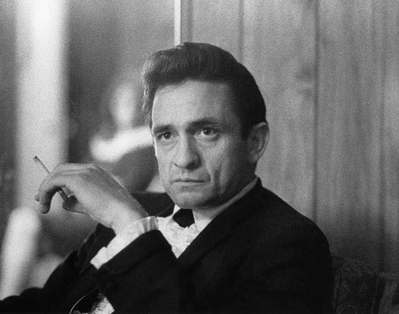 Johnny Cash Backstage, Circle Star Theater, San Carlos, CA, 1967