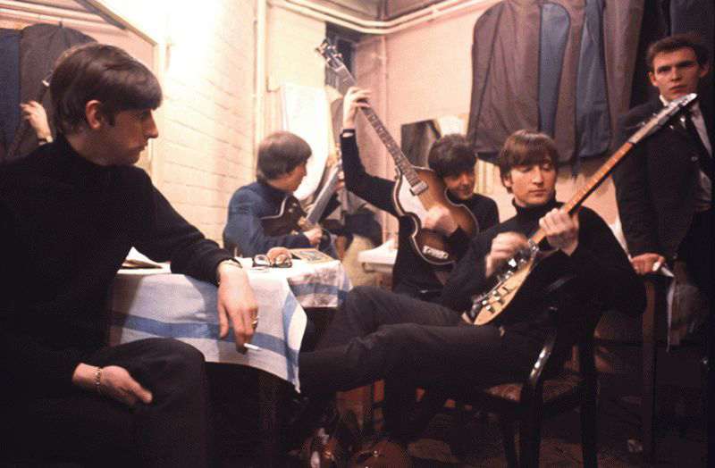 The Beatles Backstage at the Cavern - With Neil Aspinall, Liverpool, 1963