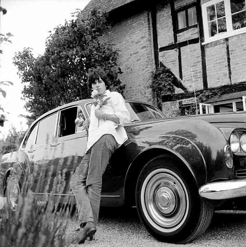 Keith Richards and Bentley with Rose (B-8), West Sussex, 1966