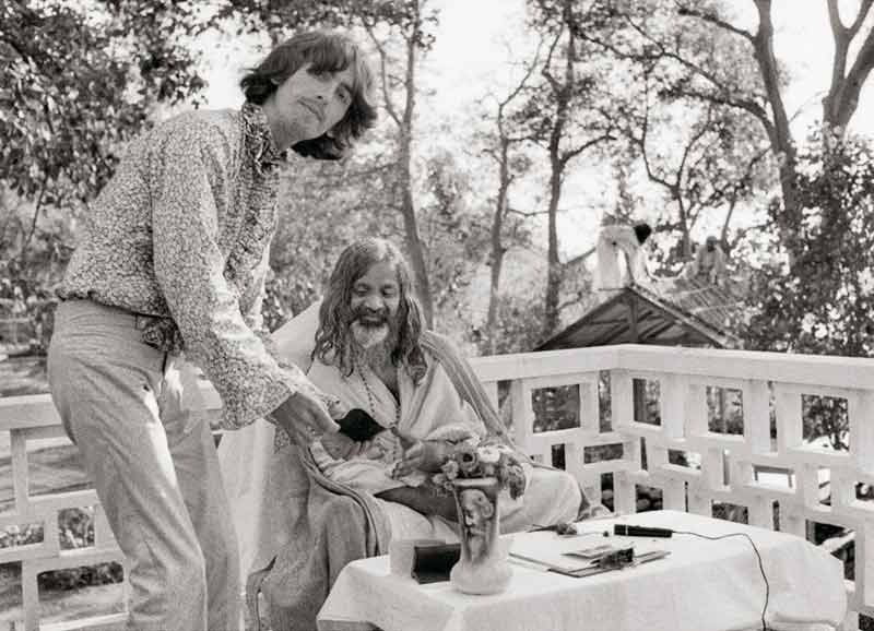 George Harrison & Maharishi, India, 1968