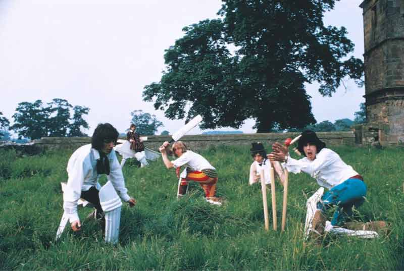 The Rolling Stones Playing Cricket, Derbyshire, 1968