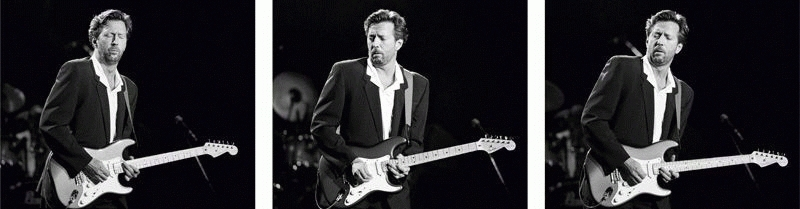 Eric Clapton On Stage Triptych, 1989