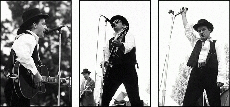 Bono Performing Triptych, 1987