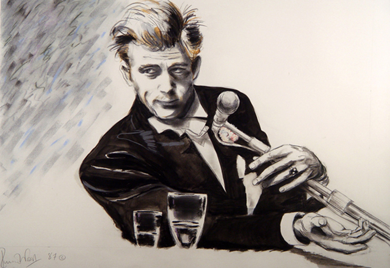 James Dean Giant Portrait, 1986