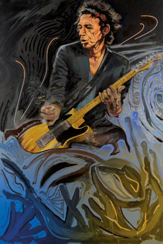 The Blue Smoke Suite - Keith Richards, 2012 - Canvas
