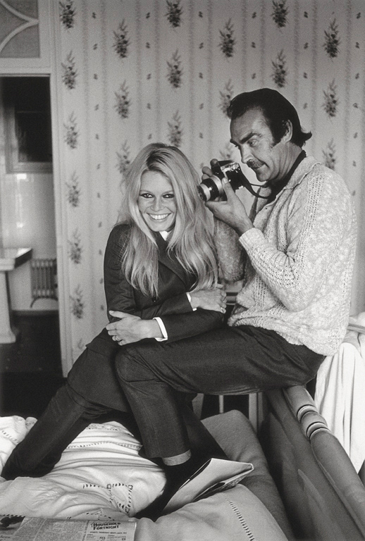 Brigitte Bardot and Sean Connery With a Camera, France, 1968