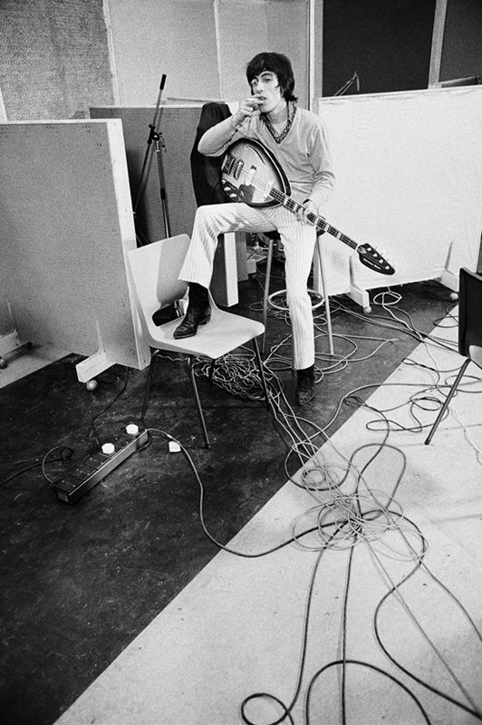 Bill Wyman, Olympic Studios, London, 1966