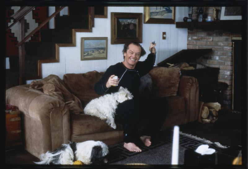 Jack Nicholson and His Dogs, Aspen, 1984