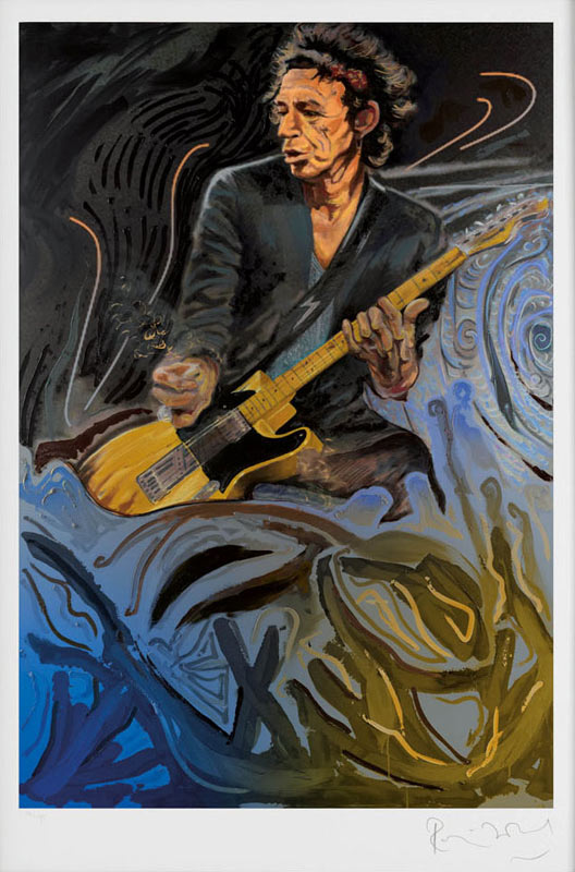 The Blue Smoke Suite - Keith Richards, 2012 - Paper