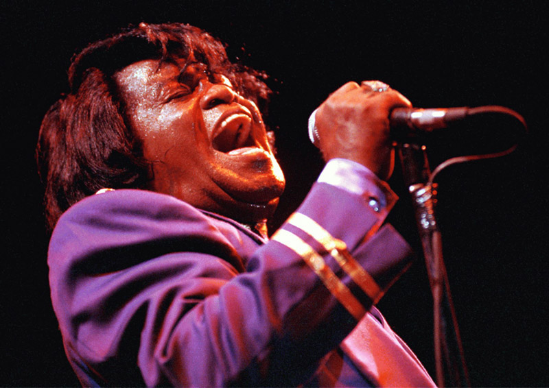 James Brown Singing at Hammersmith Odeon, London, 1991