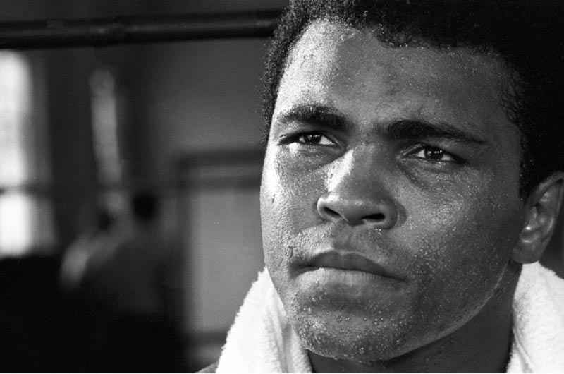 Ali Training - Close Up with Towel, Miami Beach, 1970