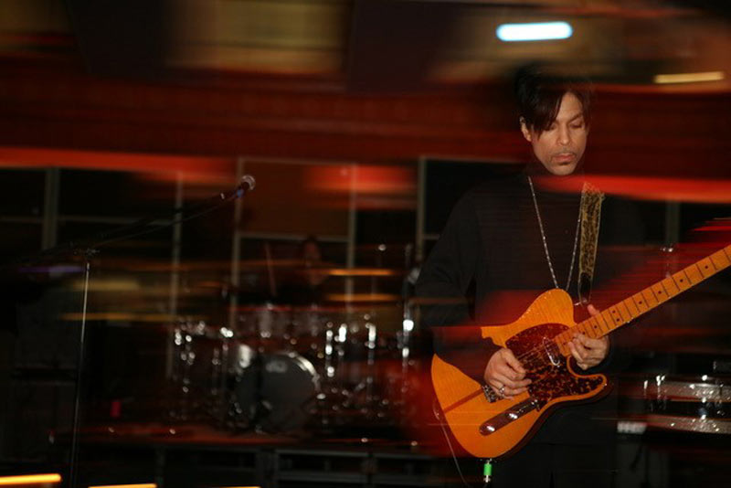 Prince Rehearsing for the Brit Awards, Air Studios (Red Streaks) London, 2006